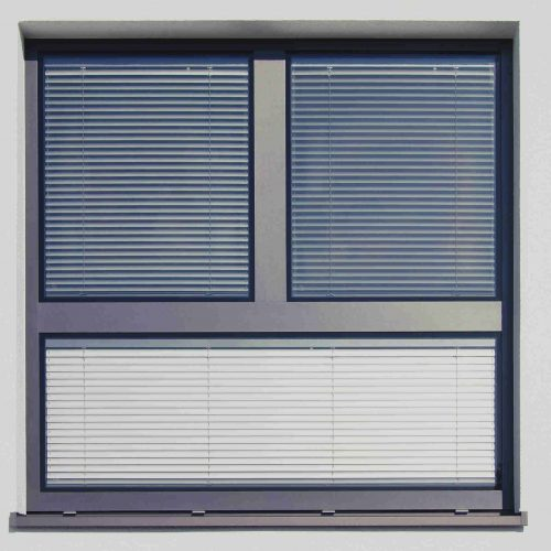 fenêtre ventilée store intégré aluminium hueck lambda 100