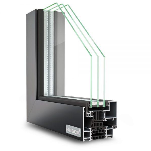 fenêtre aluminium hueck ouvrant caché lambda ws 075 is